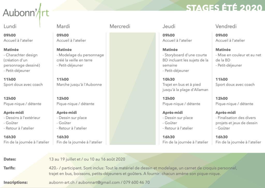 Aubonn'art - Stages 2020